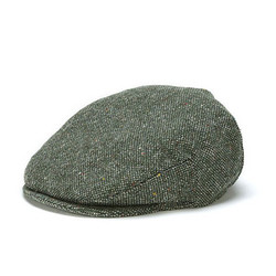 Moss Green Salt and Pepper Flat Cap