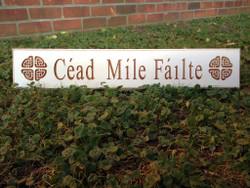 """""""Cead Mile Failte"""" Wall Sign"""