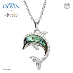 Shanore Dolphin Pendant w/ Abalone