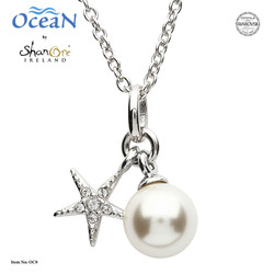 Shanore Starfish Pendant w/ Pearl and Crystal