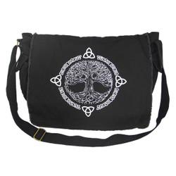 Black Tree of Life Messenger Bag