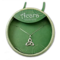 Acara Trinity Knot Pendant w/ Crystals