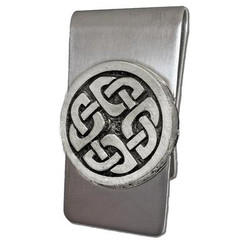 Celtic Money Clip with Shield Knot