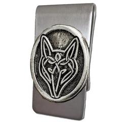 Celtic Wolf Money Clip
