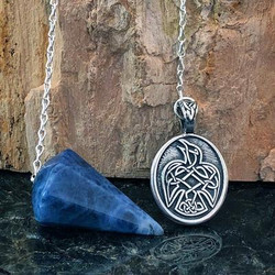 Celtic Raven Pendulum