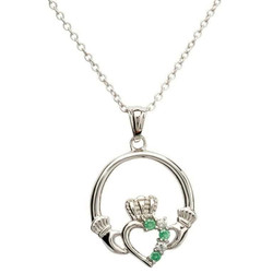 Claddagh Part Set Silver Necklace
