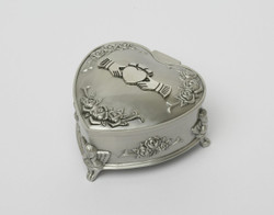 Claddagh Pewter Heart Jewelry Box