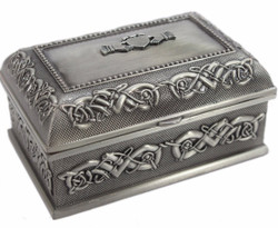 Large Claddagh Pewter Jewelry Box