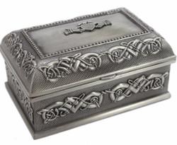 CLADDAGH PEWTER JEWELRY BOX - Medium