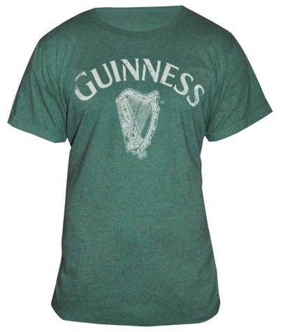 Guinness Heathered Harp Tee