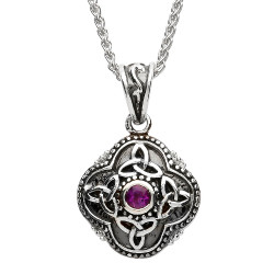 Celtic Tribal Silver Trinity Necklace