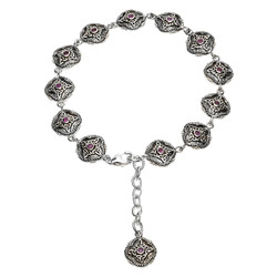 Celtic Trinity Aymethyst Tribal Bracelet