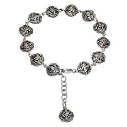 Celtic Trinity Peridot Tribal Bracelet