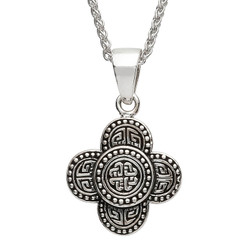 Silver Celtic Tribal Knot Necklace ( Large Size )