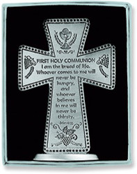Cathedral Art 3 Inch First Holy Communion Standing Message Cross
