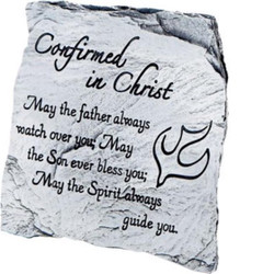 Cathedral Art Confirmation 3.5 Inch Engraved Message Slate Plaque