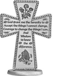 Serenity Prayer 3 inch Standing Cross