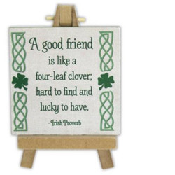 A Good Friend Irish Mini Plaque w/Ease