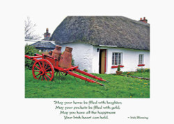 Irish Thatched Cottage Birthday Card