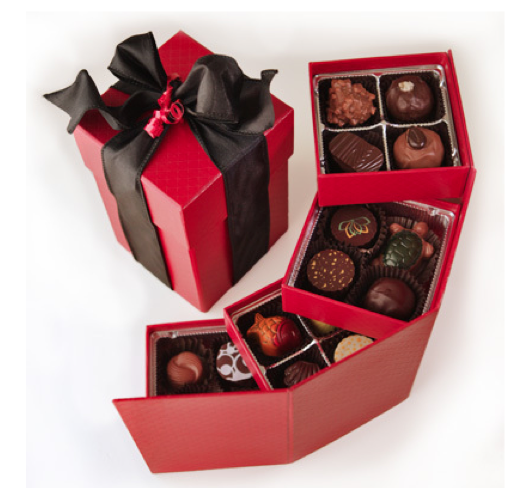 assorted bulk dark chocolates