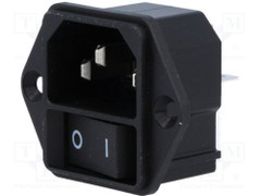 SCHURTER Power Entry Modules with on/off switch - Type KEB I