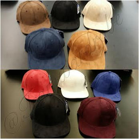 Assorted Faux Suede Cap