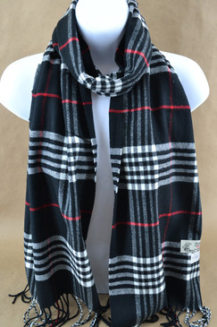 WOVEN SCARF Blk