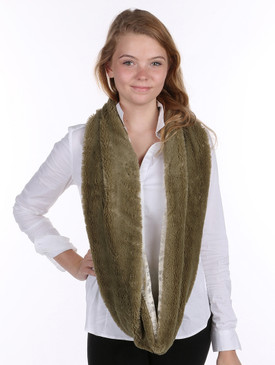 OLIVE SOFT INFINITY SCARF