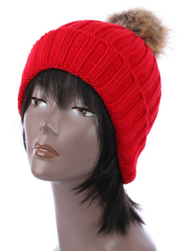 BALL BEANIE Red
