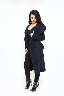 WATERFALL COAT Navy