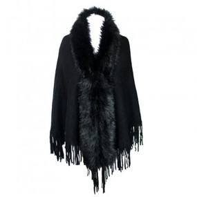 FURRY SHAWL Black