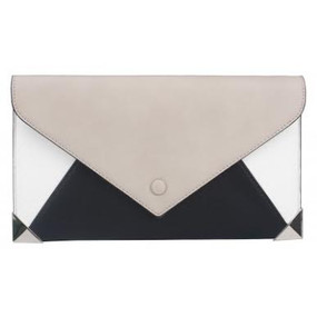 COLOR BLOCK CLUTCH Lgy/ Blk