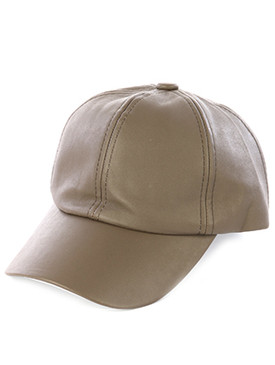 Faux Leather Cap Taupe
