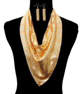 METAL SCARF NECKLACE