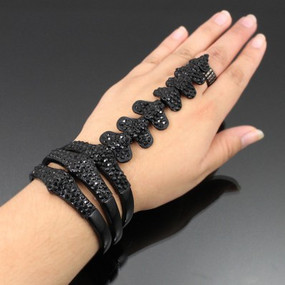 SKELETON HAND CHAIN Black