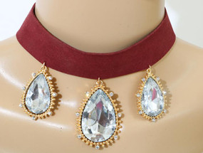 3 BLING CHOKER Wine