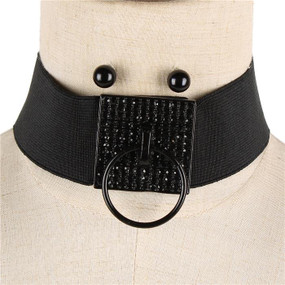 DOOR KNOCKER STONED CHOKER Blk