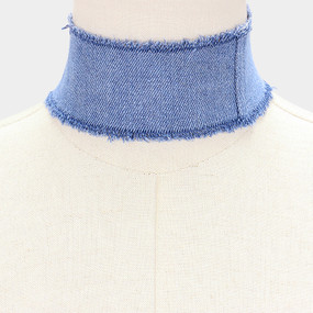 WIDE DENIM CHOKER LB