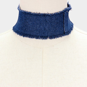 WIDE DENIM CHOKER DBL