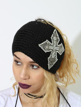BLING HEADBAND BLK 1