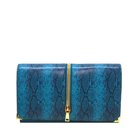 PRINT FASHION CLUTCH Teal