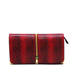 PRINT FASHION CLUTCH Red