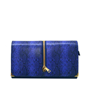 PRINT FASHION CLUTCH Blue