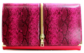 PRINT FASHION CLUTCH Fuchsia