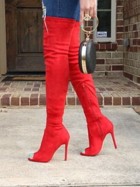 JANET Red Suede