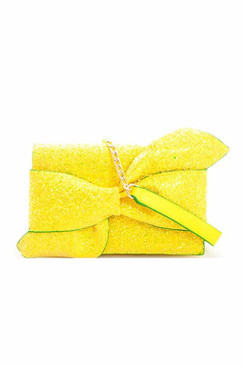 GLITTER BOW Yellow