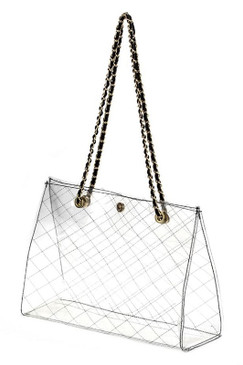 CLEAR TOTE Black
