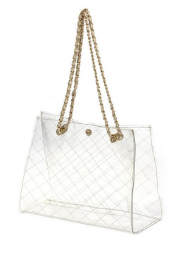 CLEAR TOTE Nude