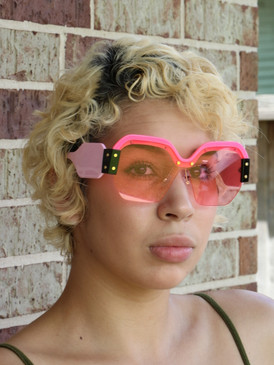 COLOR BLOCK SUNNIES Pink