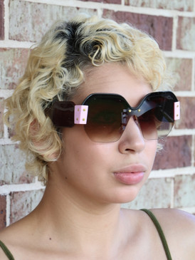 COLOR BLOCK SUNNIES Blk Pink